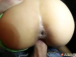 Asian Sex Diary - Sexy young Asian babe fucked by older white guy