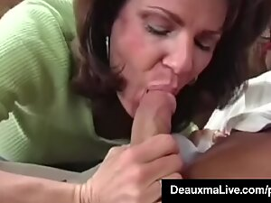 buxomy milf Deauxma drills The Tax Man In Her House! Oho!