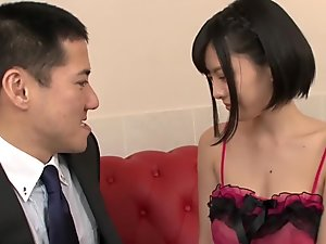 Best Japanese chick in Fabulous Lingerie, Blowjob JAV scene