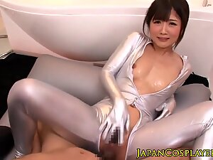 Japanese fetish babes in trio squirting by XMILF.US